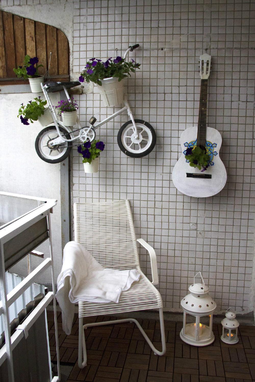 Настенное кашпо в виде велосипеда