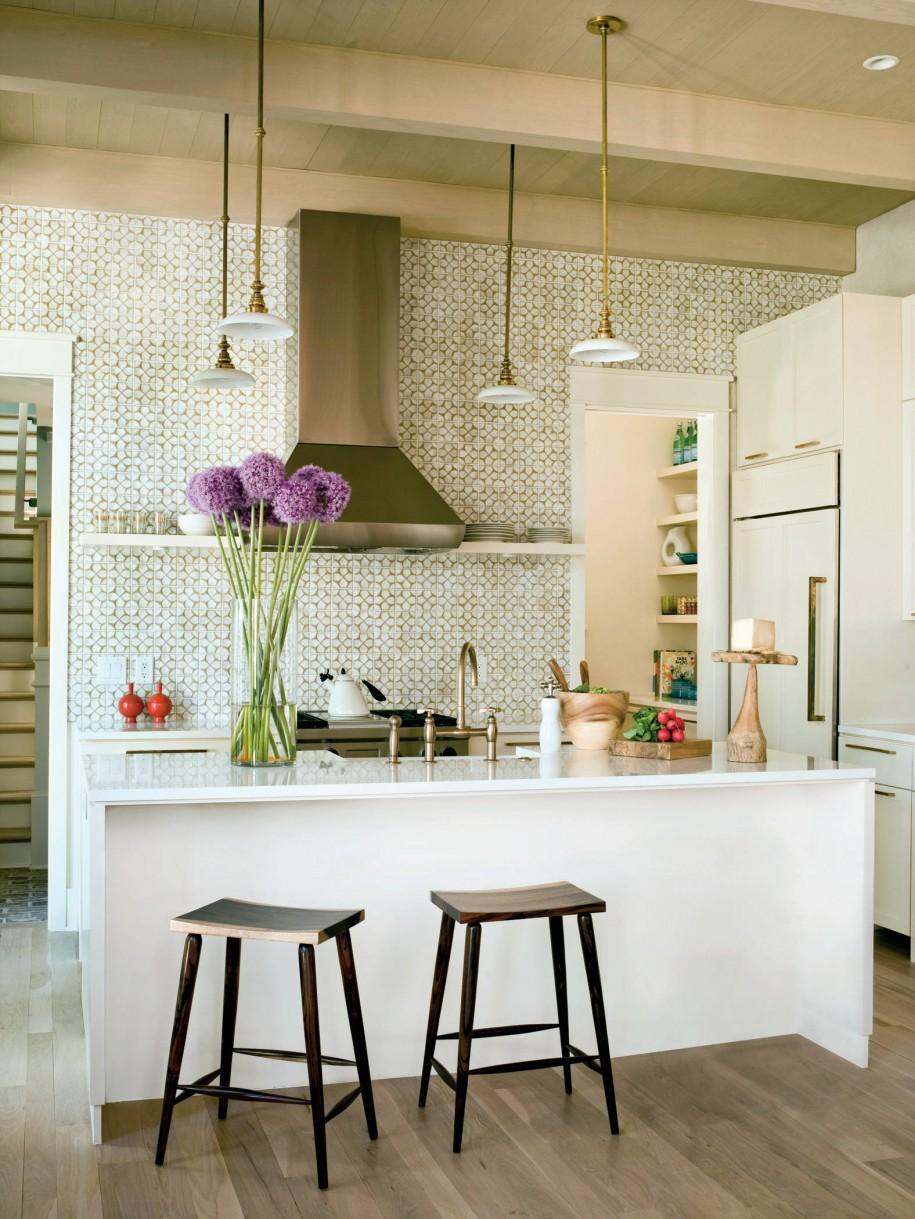 Бесподобный дизайн интерьера кухни в стиле эклектика