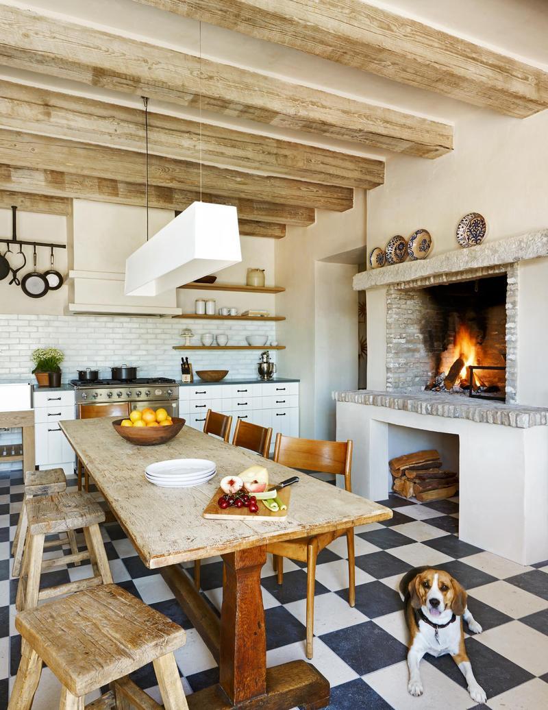 Чудесный дизайн интерьера кухни в стиле эклектика