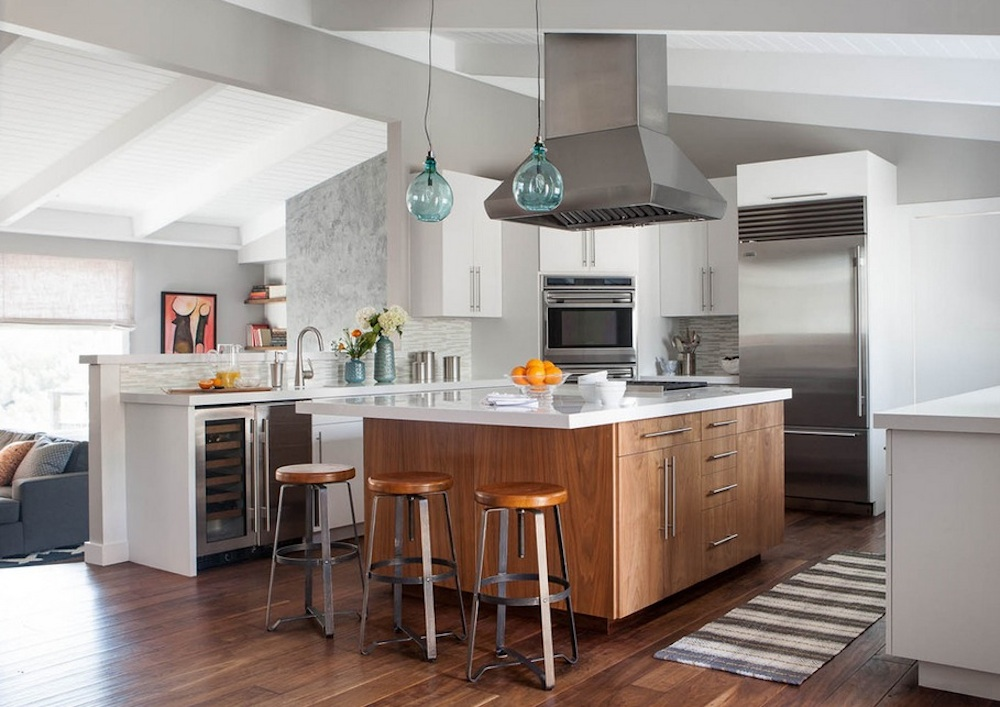 Красивое оформление кухонной зоны от Green designers