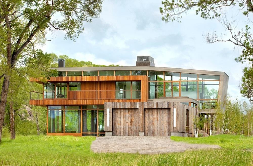 Прозрачный особняк от Green designers