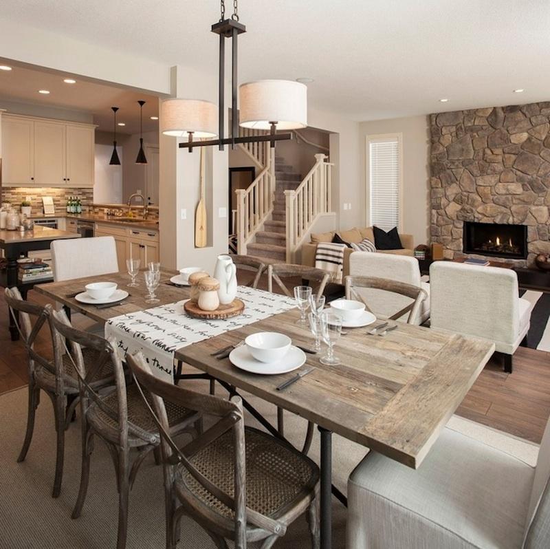 Деревянная мебель в интерьере столовой от Green designers
