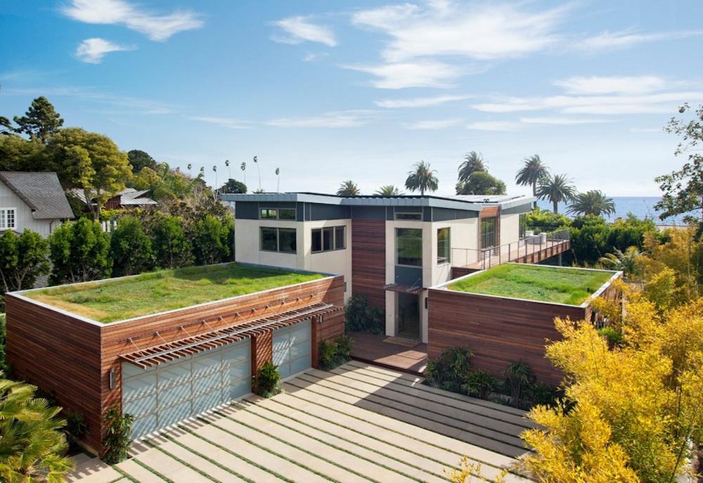 Зеленные насаждения на крыше домов от Green designers