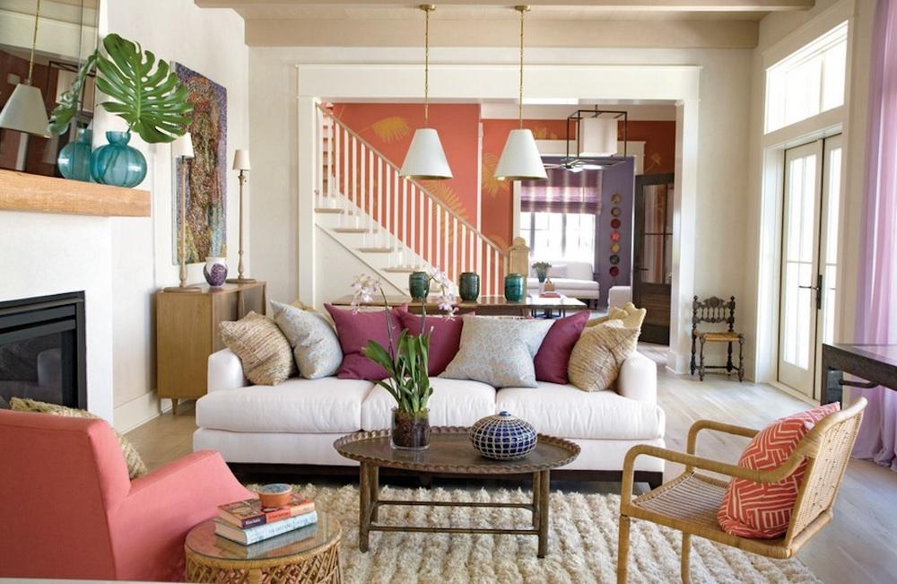 Предметы интерьера в гостиной зоне от Green designers