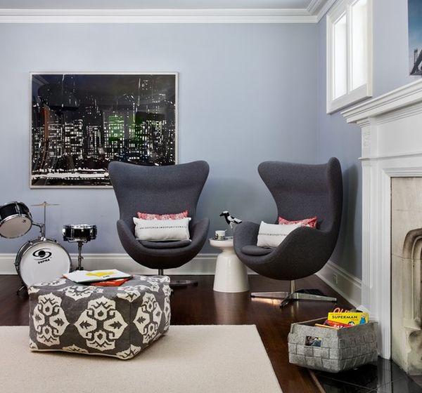 Головокружительное egg Chair в интерьере