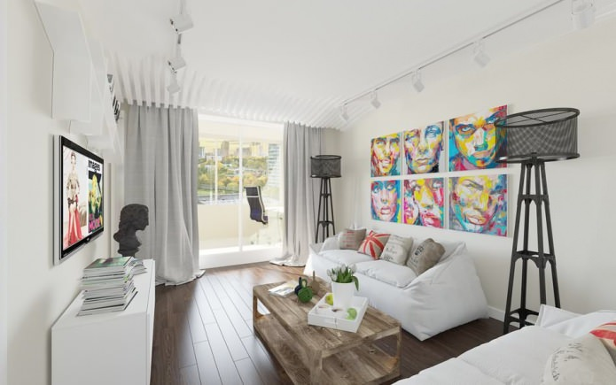 Панорамные окна в интерьере гостиной