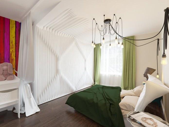 Красивое оформление спальной зоны