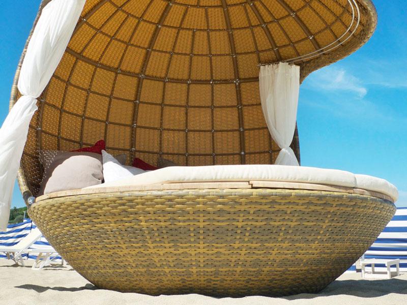Пляжный домик с комплектом подушек