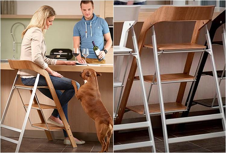 Удобный стул-стремянка у стола
