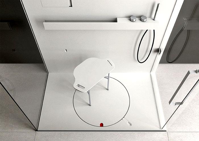 Шикарный дизайн дизайнерской душевой кабины