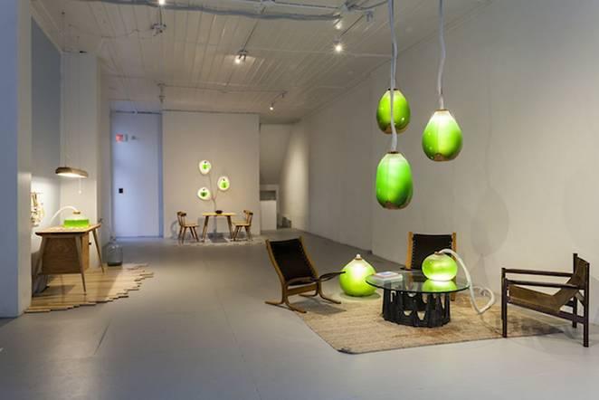 Живая мебель с водорослями