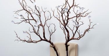Elkebana: настенные конструкции для симметричных цветочных композиций