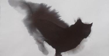 Эндре Пеновак и его акварельные чёрные кошки