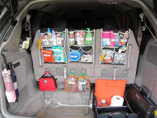 Органайзер для автомобильного багажника своими руками