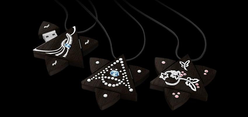 Кулоны-флешки Enigma в форме звезды