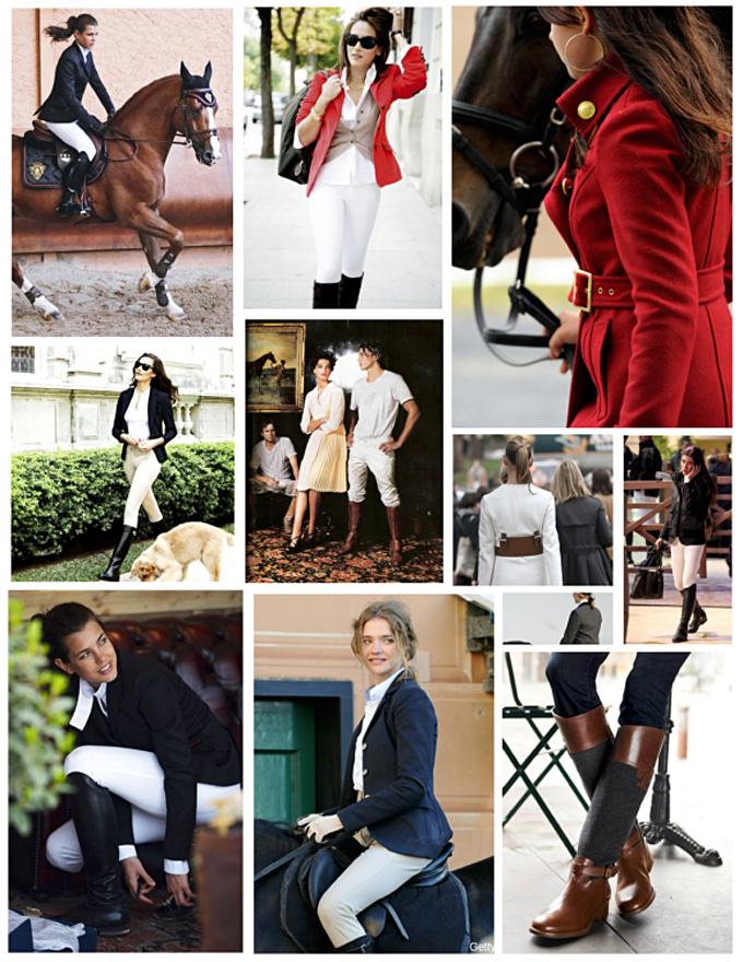 Великолепный конный стиль в одежде