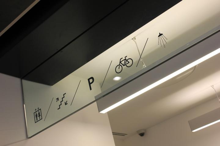 Обозначения внутри помещения бывшего вокзала