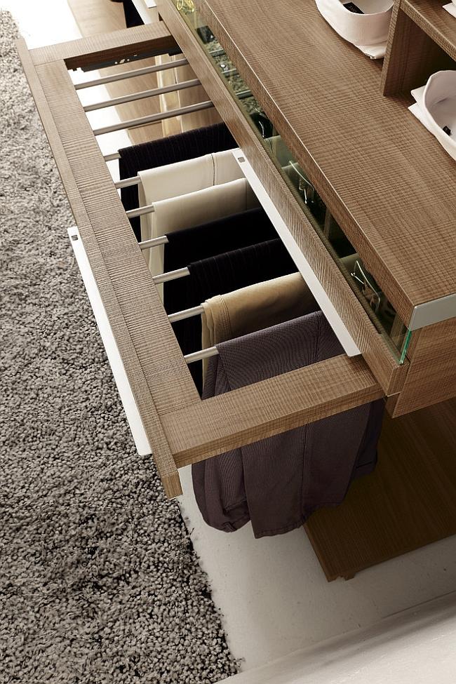 Выдвижная система для хранения брюк
