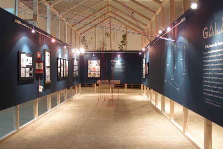 Выставочный зал интересной планировки
