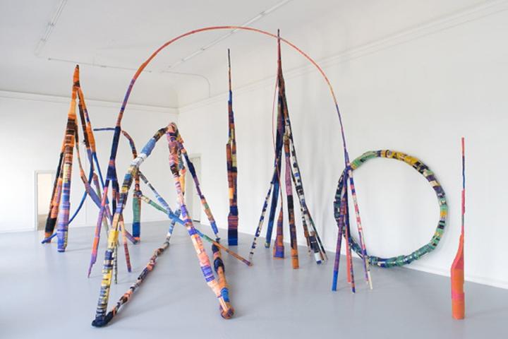 Удивительне оформление инсталляции Thread Wrapping