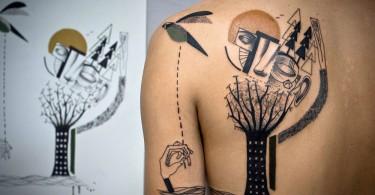 Сюрреалистические татуировки-иллюстрации от дизайнеров из Expanded Eye