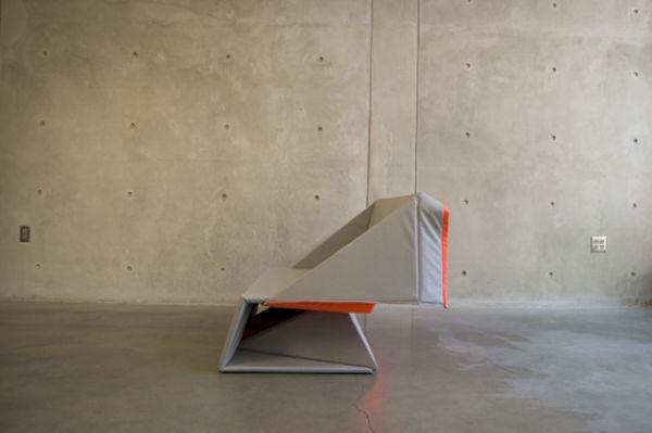 Прекрасный оригами диван в дизайне интерьера