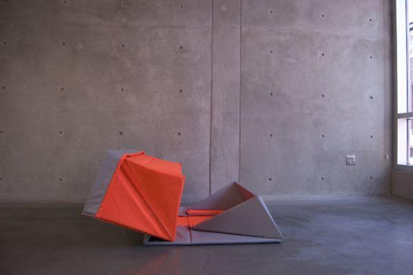 Замечательный оригами диван в дизайне интерьера
