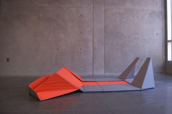 Потрясающий оригами диван в дизайне интерьера