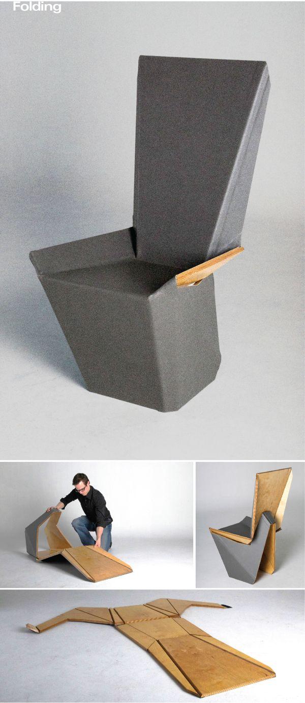 Красивое оригами кресло