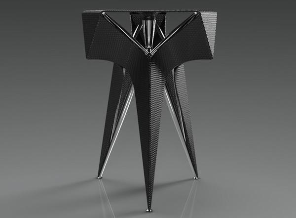 Изысканное оригами кресло