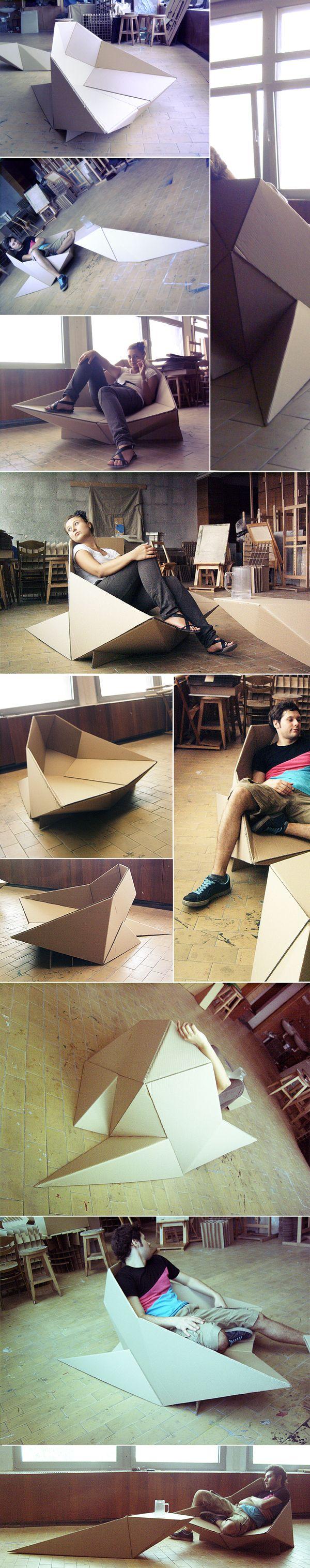 Оригами кресло в дизайне интерьера