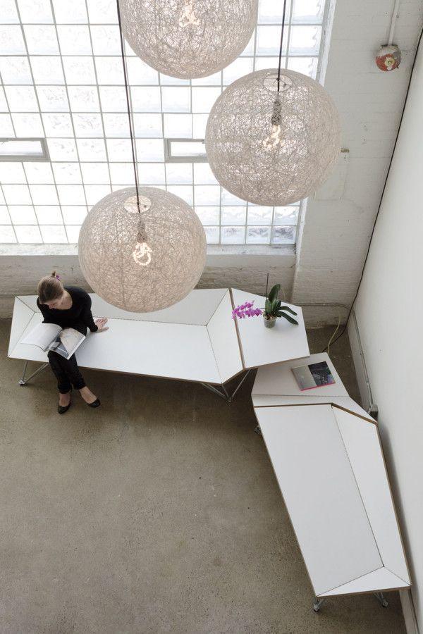 Креативный оригами диван в дизайне интерьера