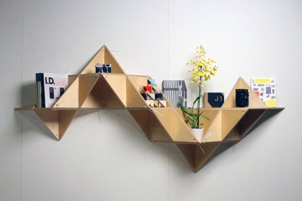 Muebles de diseño único, origami no convencional.