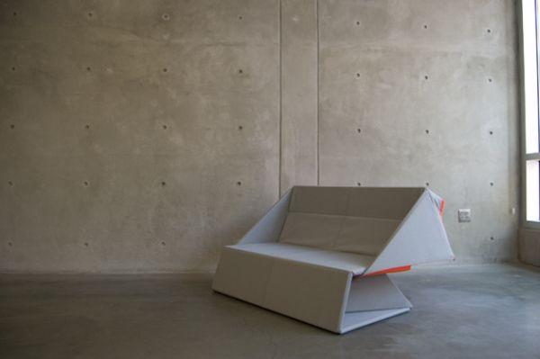 Чудесный оригами диван в дизайне интерьера