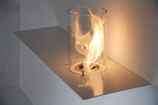 Chimenea inusual: la increíble armonía de diseño moderno y encanto romántico de la empresa Acquaefuoco