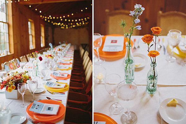 Украшение стола для осенней свадьбы