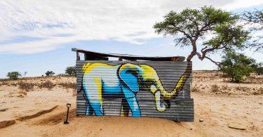 Фалько Ван: изображения слонов преобразуют уличный ландшафт