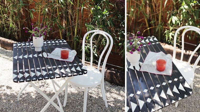 Стол и стул на улице