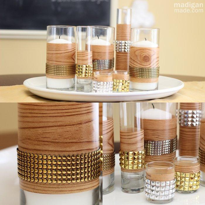 Красивые подсвечники в виде стаканов