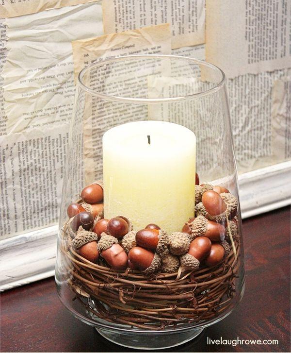 Белая ароматическая свеча