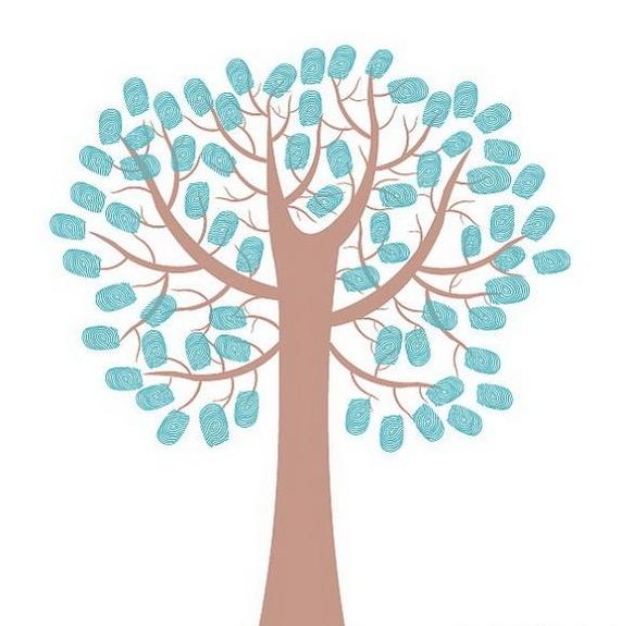 Сине-коричневое фамильное дерево