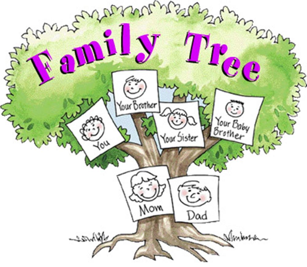 Детское оформление фамильноого дерева