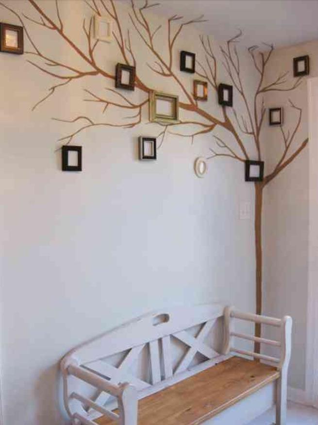 Настенное оформление фамильного дерева