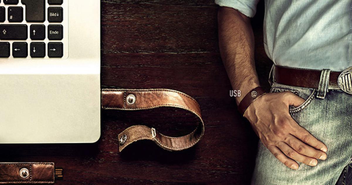 Модное устройство Usb в форме мужского браслета