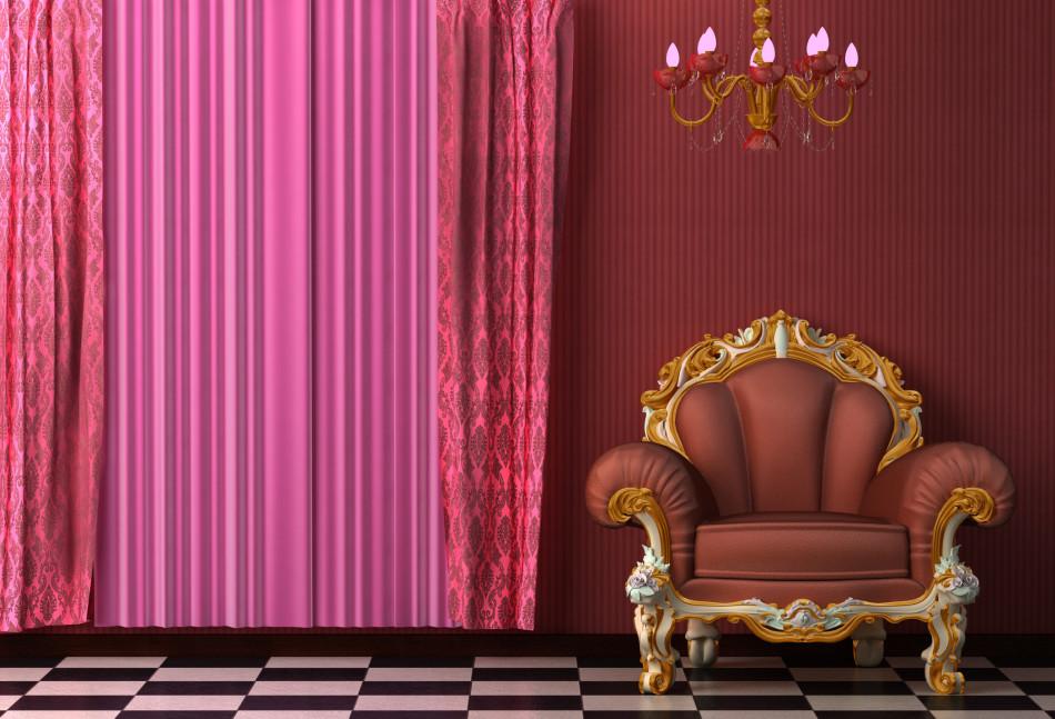 Обилие оттенков красного в комнате