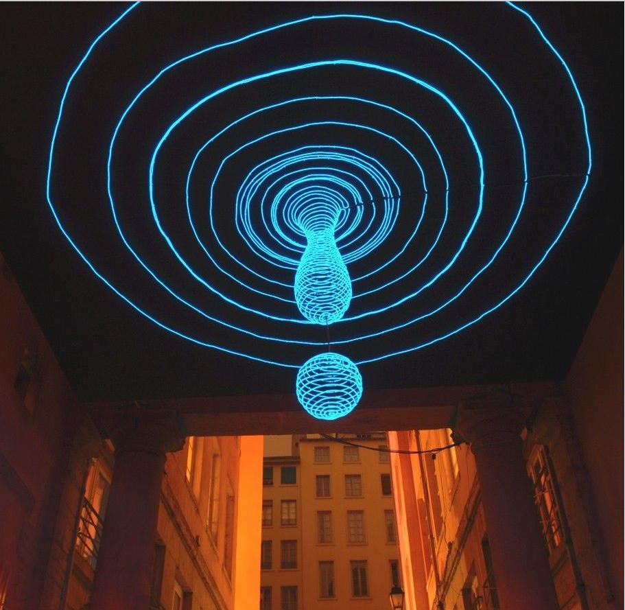Уникальная световая инсталляция на Фестивале света