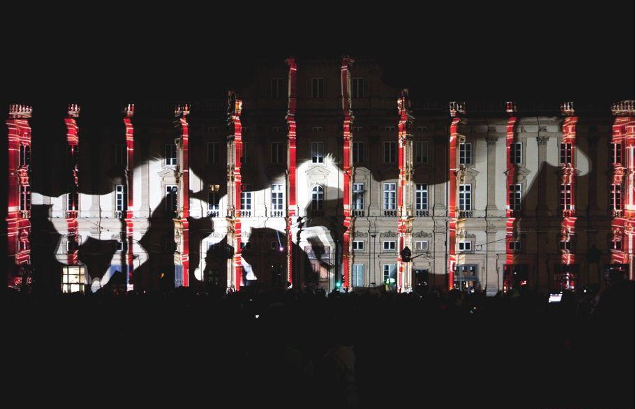 Необычная световая инсталляция на Фестивале света