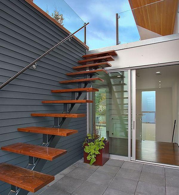 Воздушные лестницы: фото, идеи для частного дома.