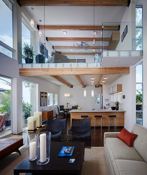 Интерьеры высоких комнат