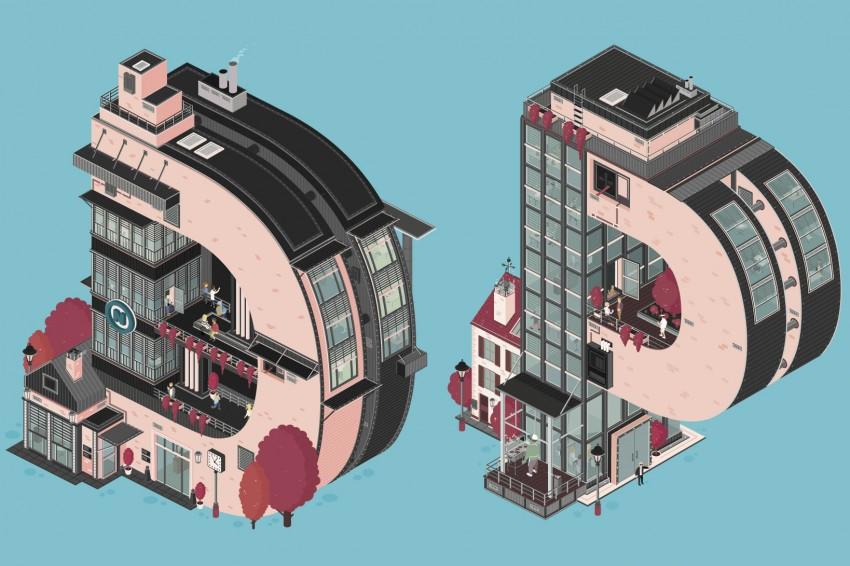 Креативная реклама: логотип от Флориана Шоммера для фирмы Deepblue Networks